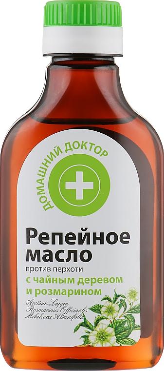 Репейное масло против перхоти - Домашний Доктор
