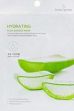 Духи, Парфюмерия, косметика Тканевая маска с экстрактом сока алоэ - BeauuGreen Hydrating Aloe Essence Mask