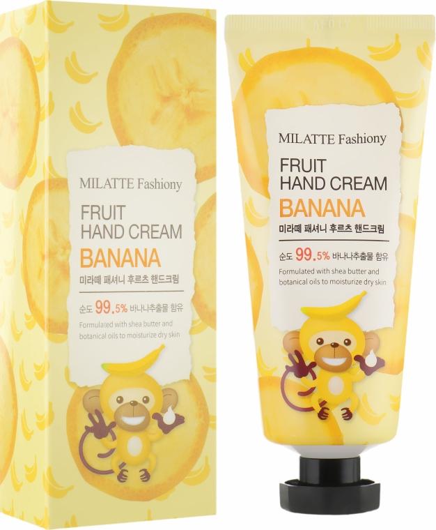 Крем для рук с экстрактом банана - Milatte Fashiony Fruit Hand Cream Banana