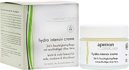 Духи, Парфюмерия, косметика Интенсивно увлажняющий крем - Apeiron Hydro Intensiv Cream 24h