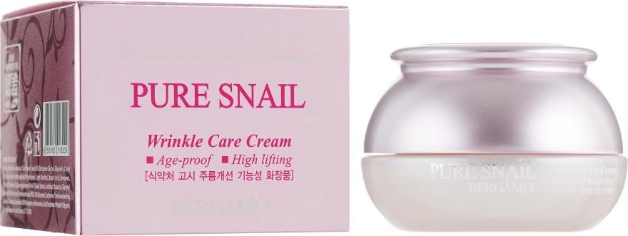 Антивозрастной восстанавливающий крем для лица - Bergamo Pure Snail Wrinkle Care Cream