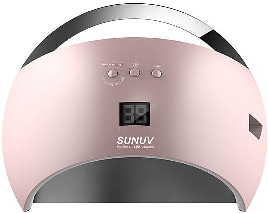Лампа UV/LED, розовая - Sun 6 UV/LED 48W