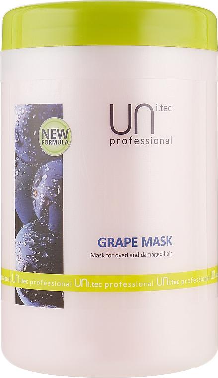 Маска для окрашенных волос - UNi.tec Professional Grape Mask