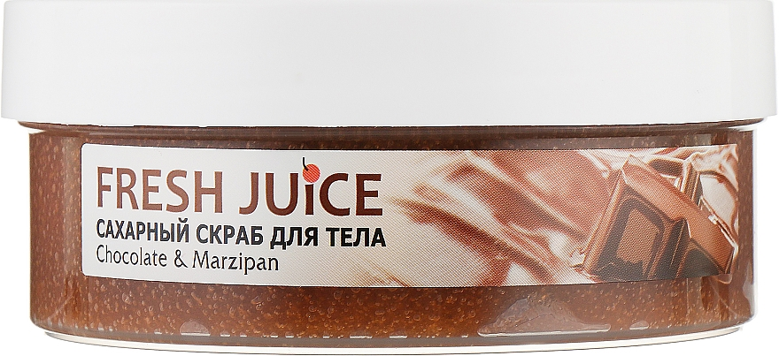 Сахарный скраб для тела - Fresh Juice Chocolate and Marzipan