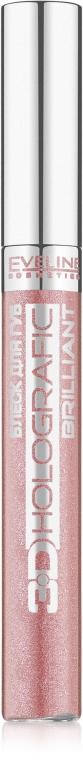Блеск для губ - Eveline Cosmetics 3d holographic brilliant