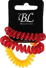 Духи, Парфюмерия, косметика Набор резинок для волос, 405004, вишневая+вишневая+оранжевая - Beauty Line