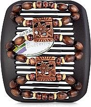 Духи, Парфюмерия, косметика Заколка для волос Dupla 014, на коричневом гребне - African Butterfly Hair Clip