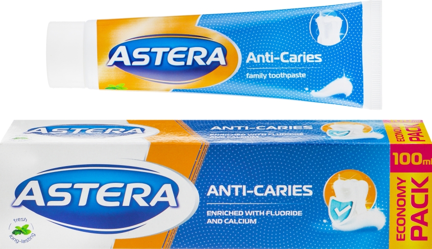 Зубная паста анти-кариес - Astera Anti-Caries Toothpaste