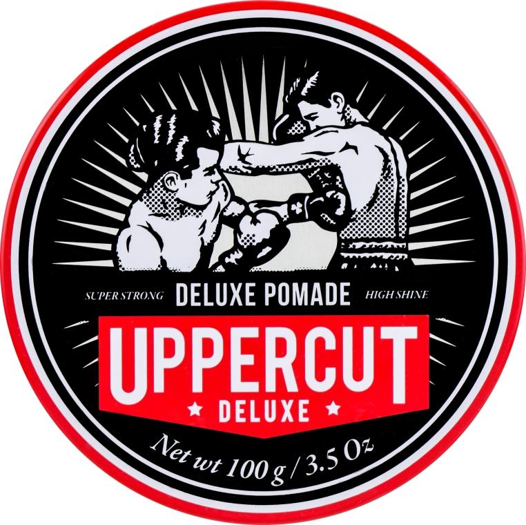 Помада для укладки волос сильной фиксации - Uppercut Deluxe Pomade Barber Tin