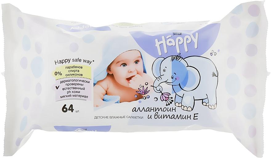 Влажные салфетки c витамином Е, 64 шт - Bella Baby Happy Vit E & Allantoin
