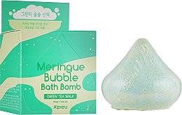 Пенная бомбочка для ванны с ароматом зеленого чая - A'pieu Meringue Bubble Bath Bomb Green Tea Walk — фото N1