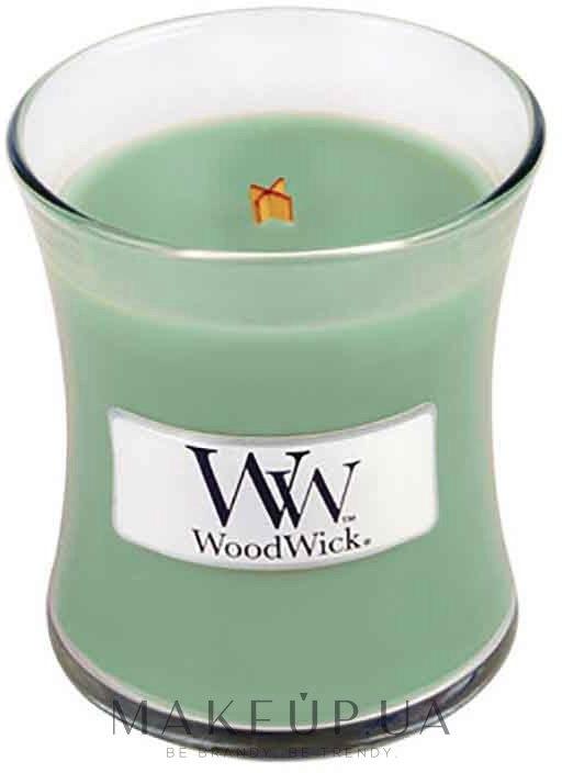 Ароматическая свеча в стакане - WoodWick Hourglass Candle White Willow Moss — фото 85g
