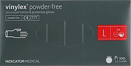 Духи, Парфюмерия, косметика Перчатки виниловые, неопудренные, размер L, прозразные - Mercator Medical Vinylex Powder-Free Gloves
