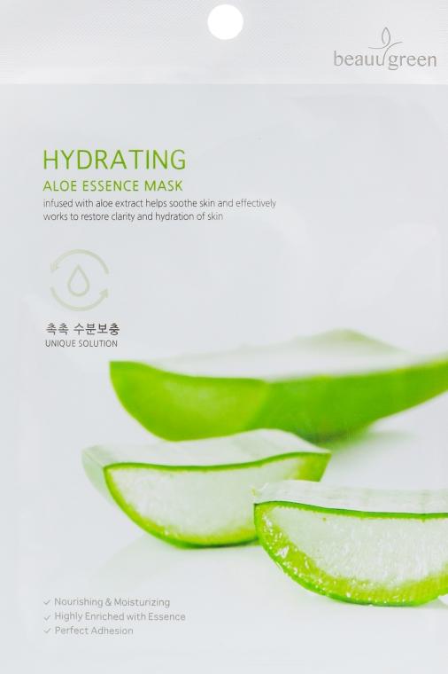 Тканевая маска с экстрактом сока алоэ - BeauuGreen Hydrating Aloe Essence Mask