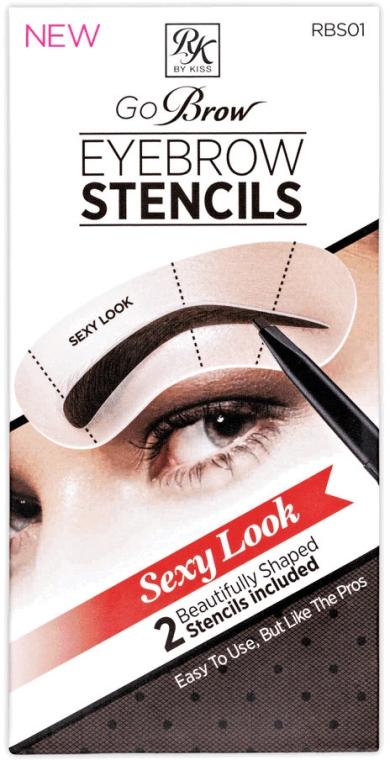 Набор трафаретов для бровей - Kiss Sexy Look Eyebrow Stencils Go Brow