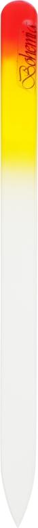 Пилочка для ногтей стеклянная 155мм, оранжево-красная - Niegelon Solingen