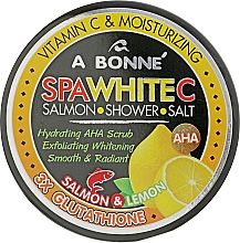 Духи, Парфюмерия, косметика Скраб-соль для душа с белым лососем - A Bonne Spa White Salmon Shower Salt