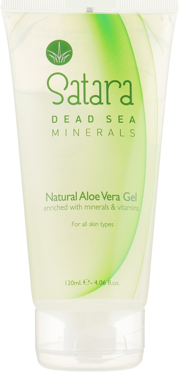 Гель с алоэ вера для лица и тела - Satara Dead Sea Minerals Natural Aloe Vera Gel