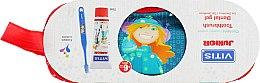 Духи, Парфюмерия, косметика Набор - Dentaid Vitis Junior (Toothpaste/75ml + Toothbrush + pencil case)
