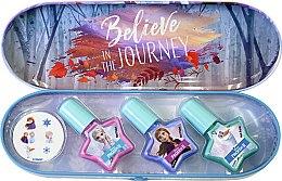 Духи, Парфюмерия, косметика Набор лаков для ногтей в металлическом футляре - Markwins Frozen