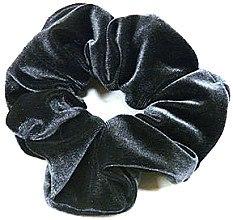 Духи, Парфюмерия, косметика Резинка для волос велюровая P1600-1, 11 см d-5,5 см, серая - Akcent