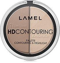 Набор для контуринга - Lamel Professional HD Contouring Palette — фото N2