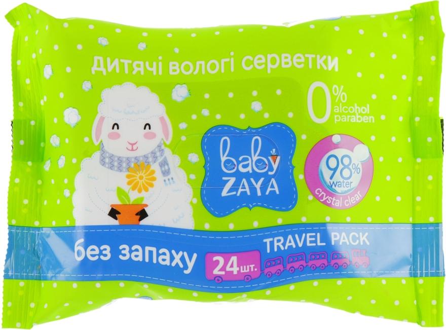 """Влажные салфетки """"Без запаха"""", 24шт - Baby Zaya"""