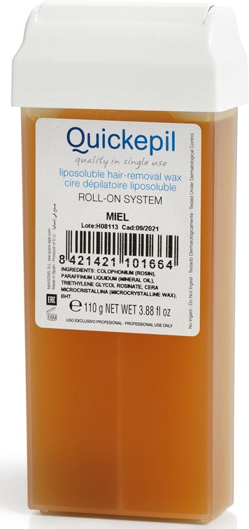 """Воск для депиляции в картридже """"Медовый"""" - Quickepil Liposoluble Hair-Removal Honey Wax"""