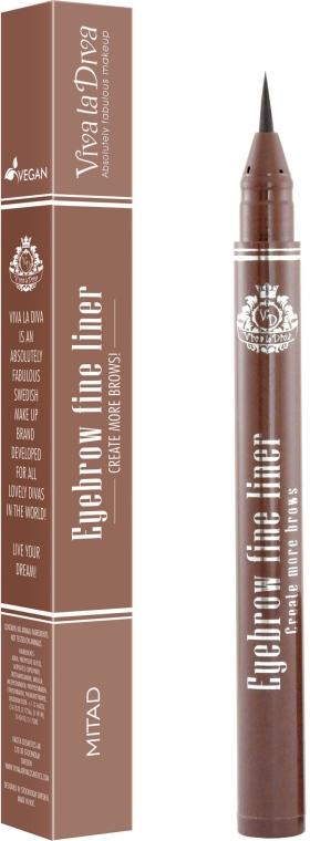 Подводка для бровей - Viva la Diva Eyebrow Fine Liner Pen