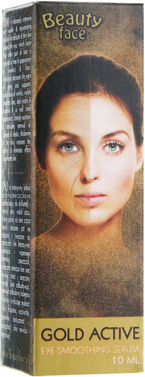"Сироватка для шкіри навколо очей антивікова ""Золото"" - Beauty Face Gold Active Eye Smoothing Serum — фото N2"