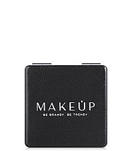 Парфумерія, косметика Розкладне кишенькове дзеркальце, квадратне, чорне - MakeUp