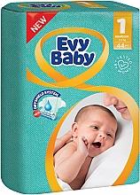 """Духи, Парфюмерия, косметика Подгузники детские """"Newborn Elastic Twin"""" размер 1, 2-5кг, 44шт - Evy Baby"""