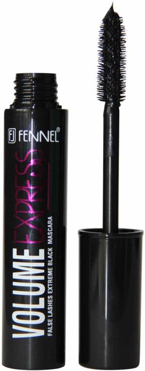 Тушь для ресниц с силиконовой щеточкой - Fennel Volume Express False Lashes Extreme Mascara