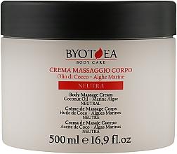 Духи, Парфюмерия, косметика Крем для массажа нейтральный - Byothea Massage Cream