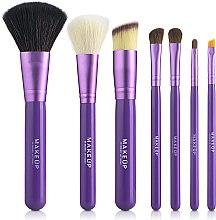 Набор кистей для макияжа в тубусе, фиолетовый, 7шт - MakeUp — фото N2