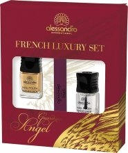 Духи, Парфюмерия, косметика Набор для французского маникюра - Alessandro International Guardian Angel French Luxury Set (nail/5ml + nail/5ml + buffer)