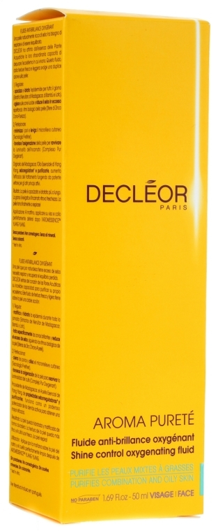 Флюид матирующий насыщающий кожу кислородом - Decleor Aroma Purete Shine Control Oxygenating Fluid
