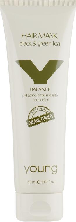 Маска для защиты цвета окрашенных волос - Young Y-Balance Black And Green Tee Hair Mask