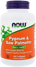Духи, Парфюмерия, косметика Желатиновые капсулы - Now Foods Pygeum & Saw Palmetto