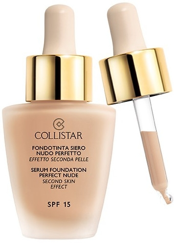 Тональный крем - Collistar Serum Foundation Perfect Nude Second Skin Effect SPF 15