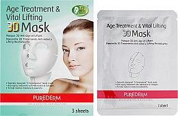 Духи, Парфюмерия, косметика Набор 3D масок антивозрастные подтягивающие - Purederm Age Treatment&Vital Lifting 3D Mask