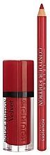 Духи, Парфюмерия, косметика Набор - Bourjois Rouge Edition Velvet Lipstick Red Volution (lipstick/7.7ml + lip/pencil/1.14g)