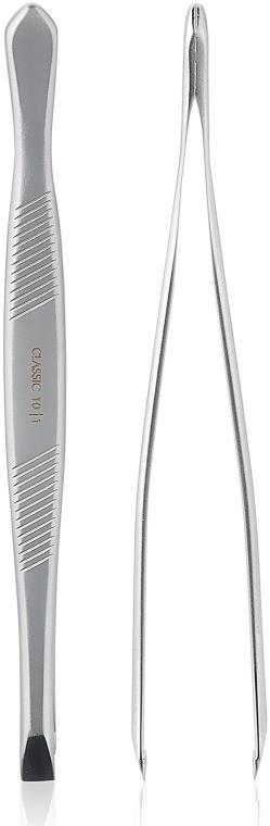 Пинцет для бровей с широкими прямыми кромками, TC-10/1 - Staleks Classic 10 Type 1