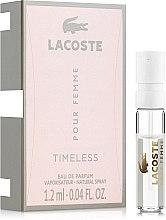 Духи, Парфюмерия, косметика Lacoste Pour Femme Timeless - Парфюмированная вода (пробник)