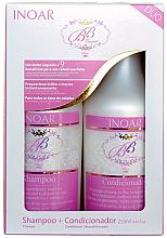 "Духи, Парфюмерия, косметика Бессульфатный набор ""Защита волос от солнца"" - Inoar BB Cream Duo (shmp/250ml+cond/250ml)"