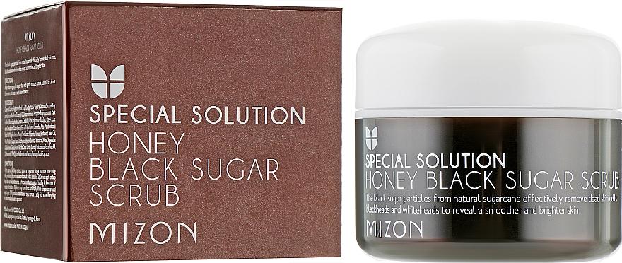Скраб с черным сахаром и медом - Mizon Honey Black Sugar Scrub