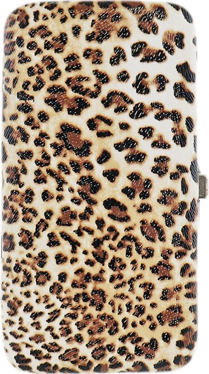 Чехол для маникюрных инструментов, на 8 предметов, леопард - Элита