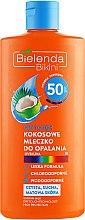 Духи, Парфюмерия, косметика Солнцезащитное молочко кокосовое SPF 50 - Bielenda Bikini Dry Touch Coconut Sun Lotion SPF 50