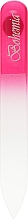 Духи, Парфюмерия, косметика Пилка для ногтей стеклянная 90 мм, 03-071A, малиновая - Zauber