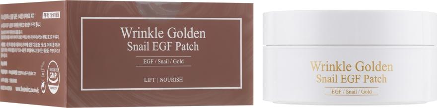 Гидрогелевые патчи под глаза с золотом и муцином - The Skin House Wrinkle Golden Snail EGF Patch